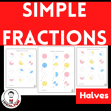 Distance Learning Fractions 3rd Grade | Simple Fractions H