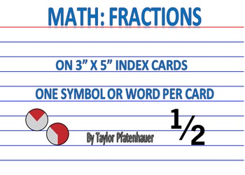 Fractions 3x5 Cards
