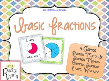 Fractions: 4 Games for Basic Fractions!