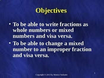 Common Core 4th - Fractions 4 - Mixed Numbers