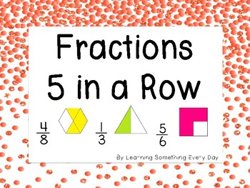 Fractions 5 in a Row Game