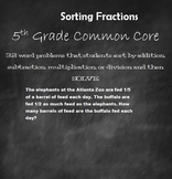 Fractions 5th Grade Common Core Math Add Subtract Multiply Divide