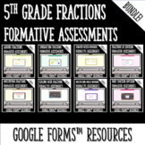 Fractions Formative Assessments for Google Forms Distance