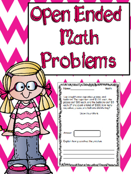 Open Ended Word Problems: 4th Grade Math