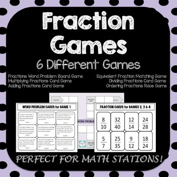 Fraction Games - 6 Fractions Games