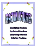 Fractions Activities -- Identifying, Equivalent, Comparing