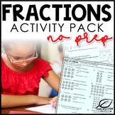 Fraction Activities Worksheets Bundle