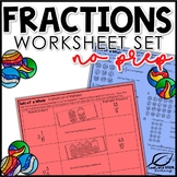 Fractions Activities No Prep Worksheet Set FREE