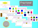 Fractions: Activities and Word Problems for Halves, Thirds, Fourths