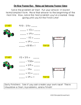 Free Fractions Activity