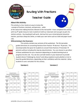 Fractions Activity: Bowling with Fractions