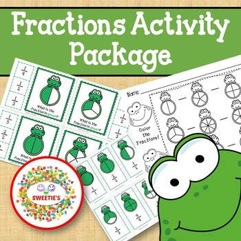 Fractions Activity Package Frog Theme