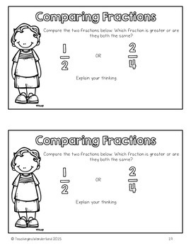 {Grade 4} Fractions Activity Packet