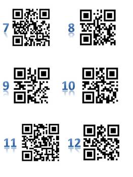Fractions Add Subtract Multiply Divide - Using QR Codes