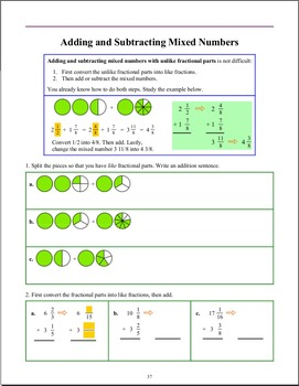 Fractions: Add and Subtract (Grade 5)