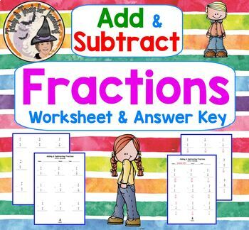 Fractions Add Subtract Proper Adding Subtracting with OUT Regrouping Borrowing