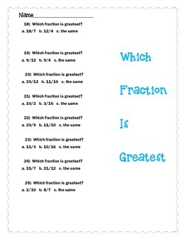 ABE Fractions Worksheets