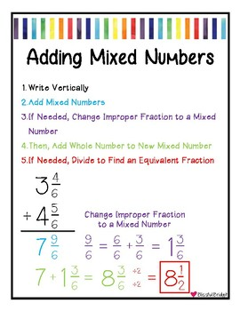 Fractions - Adding Mixed Numbers