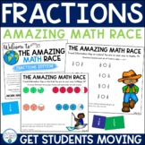 Fractions: Adding, Subtracting, Mixed Numbers, and Improper (Amazing Math Race)