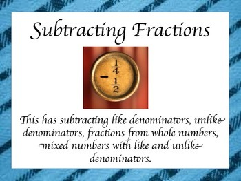 Fractions: Adding & Subtraction Lessons with Assessments
