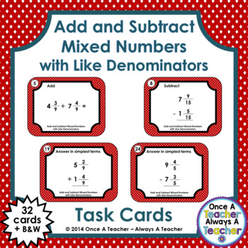how to add and subtract mixed fractions