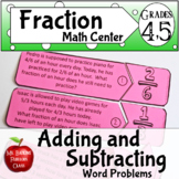 Fractions Adding and Subtracting with Like Denominators Word Problems