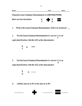 Fractions (Adding with Increasing Level of Difficulty)