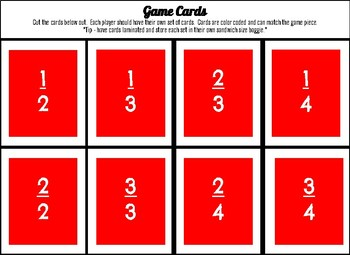 Fractions Addition - Math Game