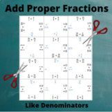 Fractions Addition Puzzle : Like Denominators