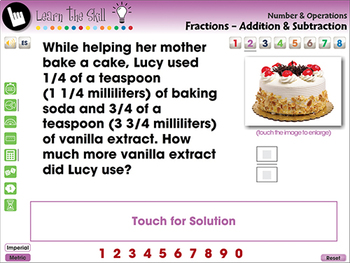 Number & Operations: Fractions - Add & Subtract Learn the Skill NOTEBOOK Gr. 3-5
