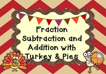 Fractions Addition & Subtraction Task Cards