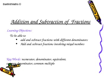 Fractions: Addition and Subtraction