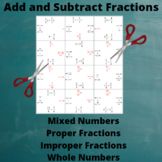 Add and Subtract Fractions : Addition and Subtraction Puzzle with Positive Ans