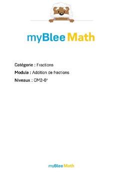 Fractions - Addition de fractions -CM2-6e