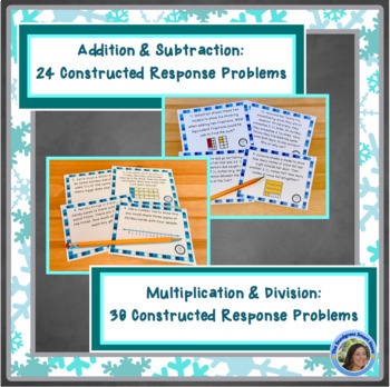 Fractions Word Problems: Winter Theme (Adding,Subtracting,Multiplying,Dividing)