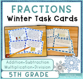 Fractions Word Problems BUNDLE: Winter (Adding,Subtracting