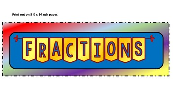 Fractions Anchor Chart (Lower Grades)