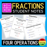 Fraction Anchor Charts & Notes