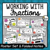 Fractions - Anchor Charts & Folding Notes