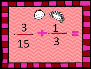 Fractions And Addition with Unlike Denominators