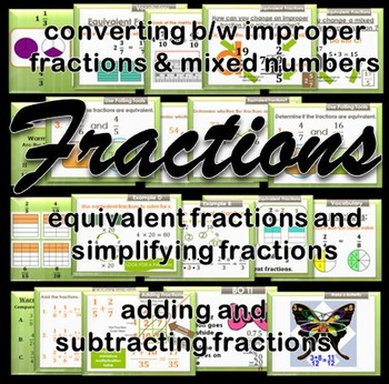 Fractions Animated PowerPoint Mini Bundle