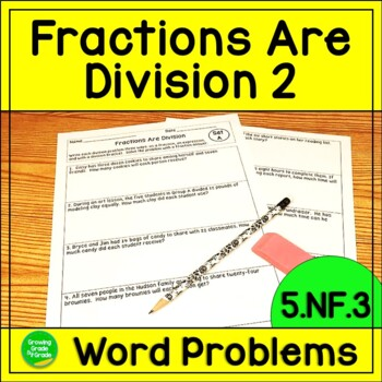 Dividing Fractions Word Problem Worksheet Teaching Resources ...