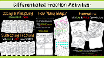 Differentiated Math Bundle (3rd & 4th)