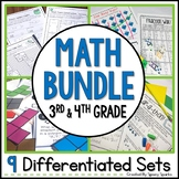 3rd and 4th Grade Math Bundle