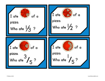 Fractions Around-the-Room (Pizza theme)