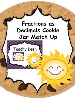 Fractions As Decimals Cookie Jar Match Up