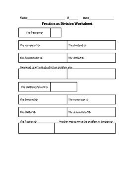 Fractions As Division PowerPoint Notes