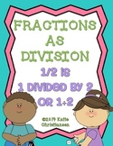 Fractions As Division Statements