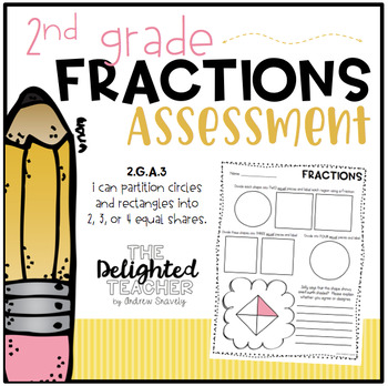 Fractions Assessment {Partition Circles + Rectangles into Equal Shares}