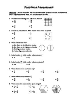 Fractions Assessment